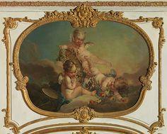François Boucher, 1753 - Allegory of Autumn - art print, fine art reproduction, wall art Jean Antoine Watteau, Foto Transfer, Classic Artwork, Guache, European Paintings, Autumn Art, French Art, French Rococo, Mosaics