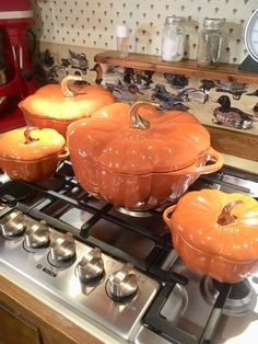 Staub Burnt Orange Mini Pumpkin Cocotte On the desk Fall Home Decor, Autumn Home, Halloween House, Fall Halloween, Seasonal Decor, Holiday Decor, Autumn Decorations, House Decorations, Thanksgiving