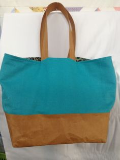 Bag made with new Kraft-tex- a paper fabric-sew able, washable -durable, rugged- check it out !
