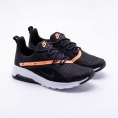 c25a7a7781132 Tênis Nike Air Max Motion 2 Preto Feminino Preto e Laranja - Gaston -  Paqueta Esportes