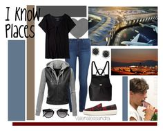 """""""I know Places"""" by valenalessandra on Polyvore featuring moda, Paige Denim, Yves Saint Laurent, Doublju, Dolce&Gabbana, Mark Broumand y Aéropostale"""