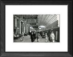 King's Cross station, London, British Railways, c1949-1950 Framed Artwork - Imagination Works Project
