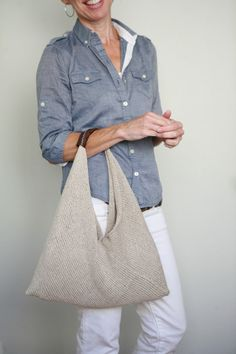 """Tolt Folded Bag with Veronika – Tolt Yarn and Wool part2    12"""" width by  36"""" handle is  5"""" X 2"""" piece rolled"""