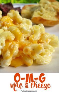OMG Mac and Cheese Recipe...nice and light (NOT!) Tastes amazing! Macaroni, boursin cheese, heavy cream, cream cheese and cheddar. One bite and you'll know why it's called OMG Mac and Cheese!