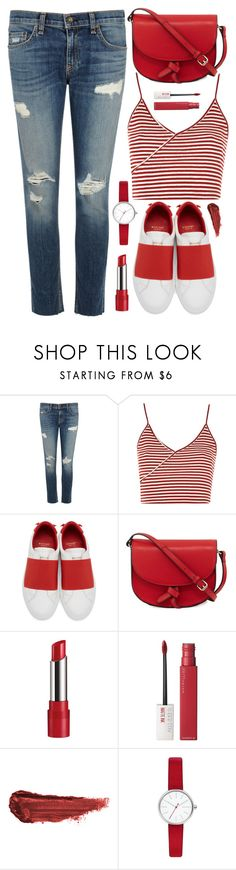"""Untitled #375"" by virginia-laurie ❤ liked on Polyvore featuring rag & bone/JEAN, Topshop, Givenchy, KC Jagger, Rimmel, Maybelline, By Terry and Skagen"