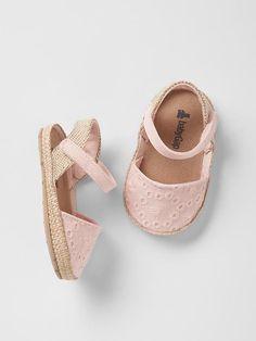 Eyelet espadrille sandals Product Image