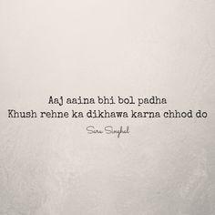 Sad Life Quotes, Love Hurts Quotes, Shyari Quotes, Hindi Quotes On Life, Hurt Quotes, Mood Quotes, Poetry Quotes, Hindi Shayari Life, Hindi Shayari Attitude