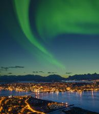 Sinta a magia das auroras boreais em Tromsø, Norte da Noruega - Foto: Bård Løken, Innovation Norway