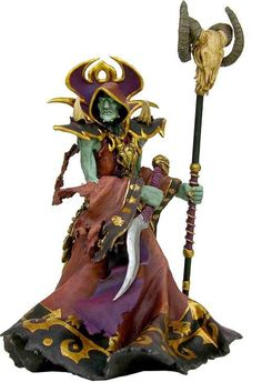 21cm Undead Warlock Action Figure 1/8 scale painted figure Windrunner Doll PVC ACGN figure Garage Kit Toys Brinquedos Anime