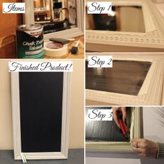 DIY Chalkboard- May have to do this if I can't find any!