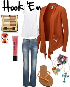 """""""Hook Em"""" by texasweets ❤ liked on Polyvore"""