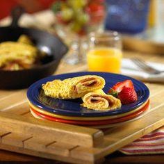 Guiltless Bacon Omelet | Recipes.com Prepare MORNINGSTAR FARMS Veggie ...
