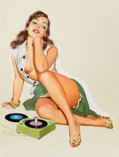 vintage pin up girl #vintage