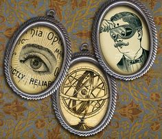 22 x Victorian Steampunk Science & Medicine - Cameo Size Oval Images - Digital Collage Sheet, I Steampunk Crafts, Steampunk Clothing, Crafty Projects, Art Projects, Steam Punk Jewelry, Vintage Mermaid, Victorian Steampunk, Craft Sale, Collage Sheet