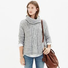 Great winter outfit - jeans and grey - you can get the Turtleneck Sweater here