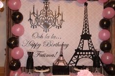 Parisian, French, Paris, Pink, Pink and black Birthday Party Ideas | Photo 14 of 27 | Catch My Party