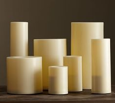 Flameless Outdoor Pillar Candle #Pottery Barn