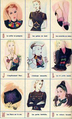 1938 Paris Marie Claire Alphabet of Style-Part Deux  yourgrandmotherscrafts