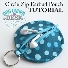 Ear Bud Pouch. Free sewing pattern for a fabric ear bud pouch! This is so cute and would also be great given gifts for your friends.