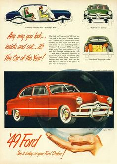"""1949 Ford Ad """"Car of the Year"""""""