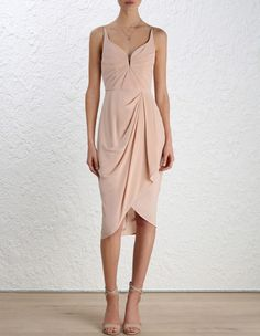 Silk Drape Dress, fr