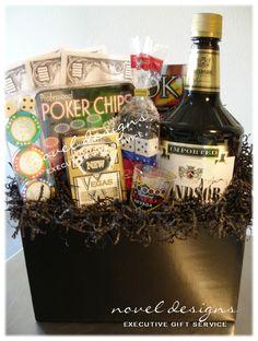 #Vegas #Poker Night #Gift Basket - noveldesignsllc.com
