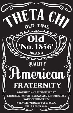 Promotional Shirt gimic for Theta Chi Fraternity's  recruitment for the 2013 academic school year.