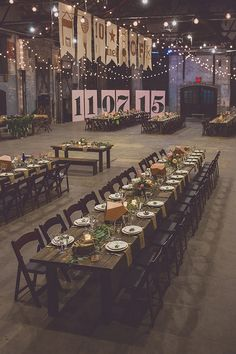 Industrial Loft Wedding Reception Ideas for 2019 – Page 2 of 2 ! Wedding Reception Ideas, Wedding Planning, Wedding Parties, Brunch Wedding, Wedding Venues, New York Wedding, Fall Wedding, Dream Wedding, Wedding Yellow