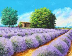 """""""Lavender lines"""" 73x92 cm"""
