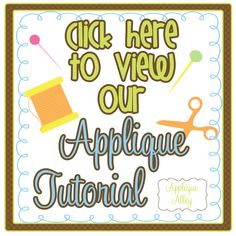 applique alley | tell them applique alley sent you follow us @ appliquealley for ...