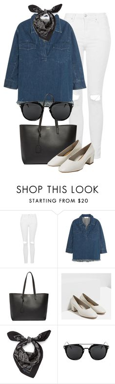 """Untitled #2317"" by annielizjung ❤ liked on Polyvore featuring Topshop, Chloé, Yves Saint Laurent, Zara and Alexander McQueen"