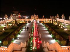 Ramoji Film City, Hyderabad, India.     A city dedicated to movie sets!! Its actually pretty amazing! Definitely worth going...    Check!