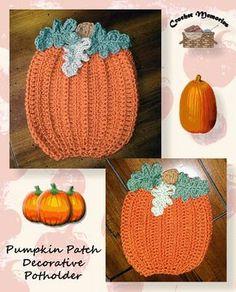 Free pattern for a pumpkin potholder