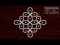 Simple 41 Dot Rangoli for Daily Routine Sikku Kolam Rangoli Designs With Dots, Rangoli Designs Images, Rangoli With Dots, Simple Rangoli, Mehndi Designs, Padi Kolam, Kolam Rangoli, Traditional Rangoli, Daily Dot