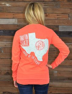 Show your love for your awesome Tarleton State Texans in this great NEW TSU design. This pigment dyed tee is perfect for you! Go Texans!