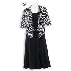 Zebra Shrug and Dress Set - Casual Women's Clothing and Fashion Accessories - Exclusive Styles in Misses and Womens Plus Sizes   Serengeti