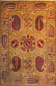 modern suzani rug, handwoven in Afghanistan, natural dyes.
