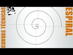 Espiral de cuatro centros. Volutas. Envolvente de un cuadrado (Curvas Técnicas). - YouTube