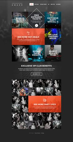 Event Management App by Maciej Rybczonek, via Behance