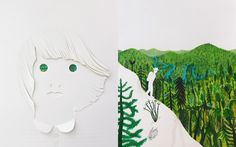 The forest Art Book project in progress, Illustrations by Valerio Vidali and Violeta Lopiz. text by Riccardo Bozzi
