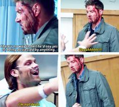 [gifset] goofball! Jensen and Jared in the Season 9 gag reel. #SPN