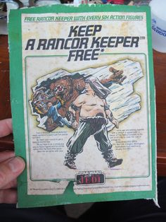 STAR WARS Episode VI ROTJ Keep a Rancor Keeper Free flyer PALITOY offer