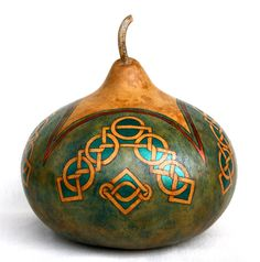 Celtic Delights gourd by Suzanne Erickson