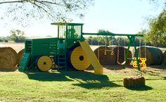 John Deere Tractor Set in the Fall.