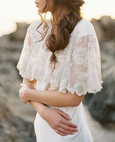 Top It Off: 10 Chic Bridal Cover Ups  - Bride La Boheme Crystal Bolero from InStyle.com