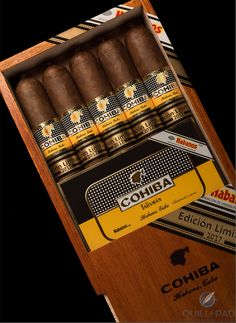 The Limited Edition program (Edición Limitada) has been the great success story for Cuban cigars this century, and the recently released Cohiba Talismán Limited Edition 2017 is the latest in a line of superb smokes. Cigars And Whiskey, Good Cigars, Pipes And Cigars, Cuban Cigars, Cigar Humidor, Cigar Bar, Cohiba Cigars, Rum, Cigar Shops