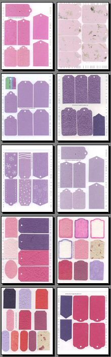 Scrapbooking Tags _Earthtones & Colors