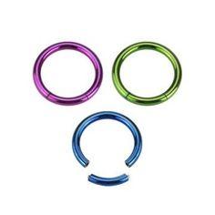 Segmentring 1,2 mm - 3 Farben Round Glass, Piercing, Glasses, Ring, Colors, Eyewear, Eyeglasses, Piercings, Eye Glasses