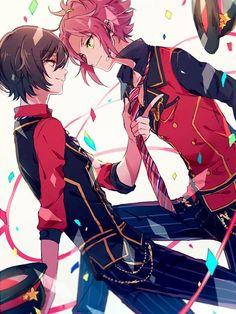 Ritsu and Mao Anime Demon Boy, Anime Guys, Chica Anime Manga, Anime Art, Star Character, Anime Songs, Star Art, Ensemble Stars, Me Me Me Anime