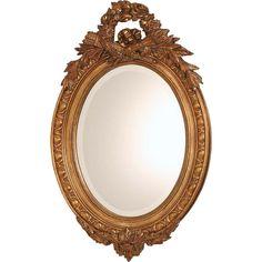 En oval guldspegel i klassiskt utförande med fasett-slipat glas. Ramen i trä är… Interior Decorating, Mirror, Furniture, Home Decor, Corning Glass, Decoration Home, Room Decor, Mirrors, Home Furnishings